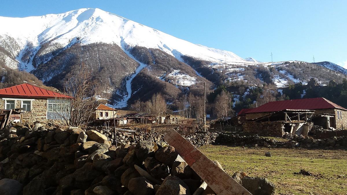 Kazbegi in het noorden