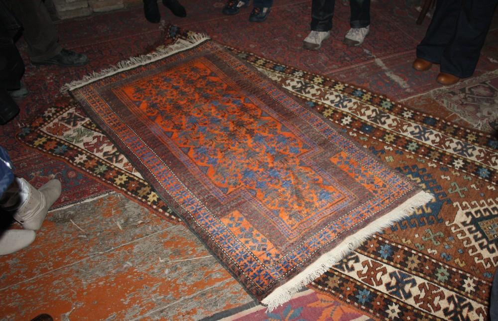 Oude tapijthandwerk