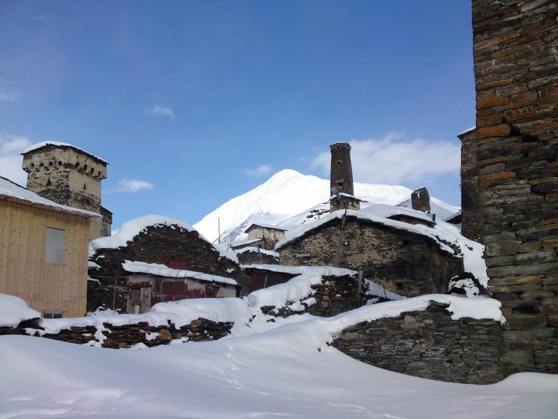 Het hoogst bewoonde dorp van Europa ligt in Svanetie
