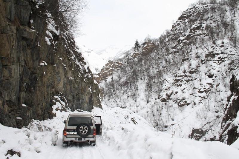 Op weg naar Ushguli in Svanetie