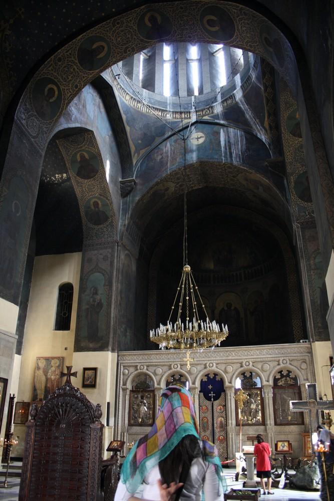 De oude kathedraal in het centrum van Tbilisi