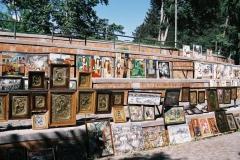 De kunstmarkt in Tbilisi