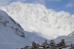Het bergdorpje Ushguli in Svanetie