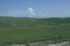Uitgestrekte grasvlaktes in het zuidoosten