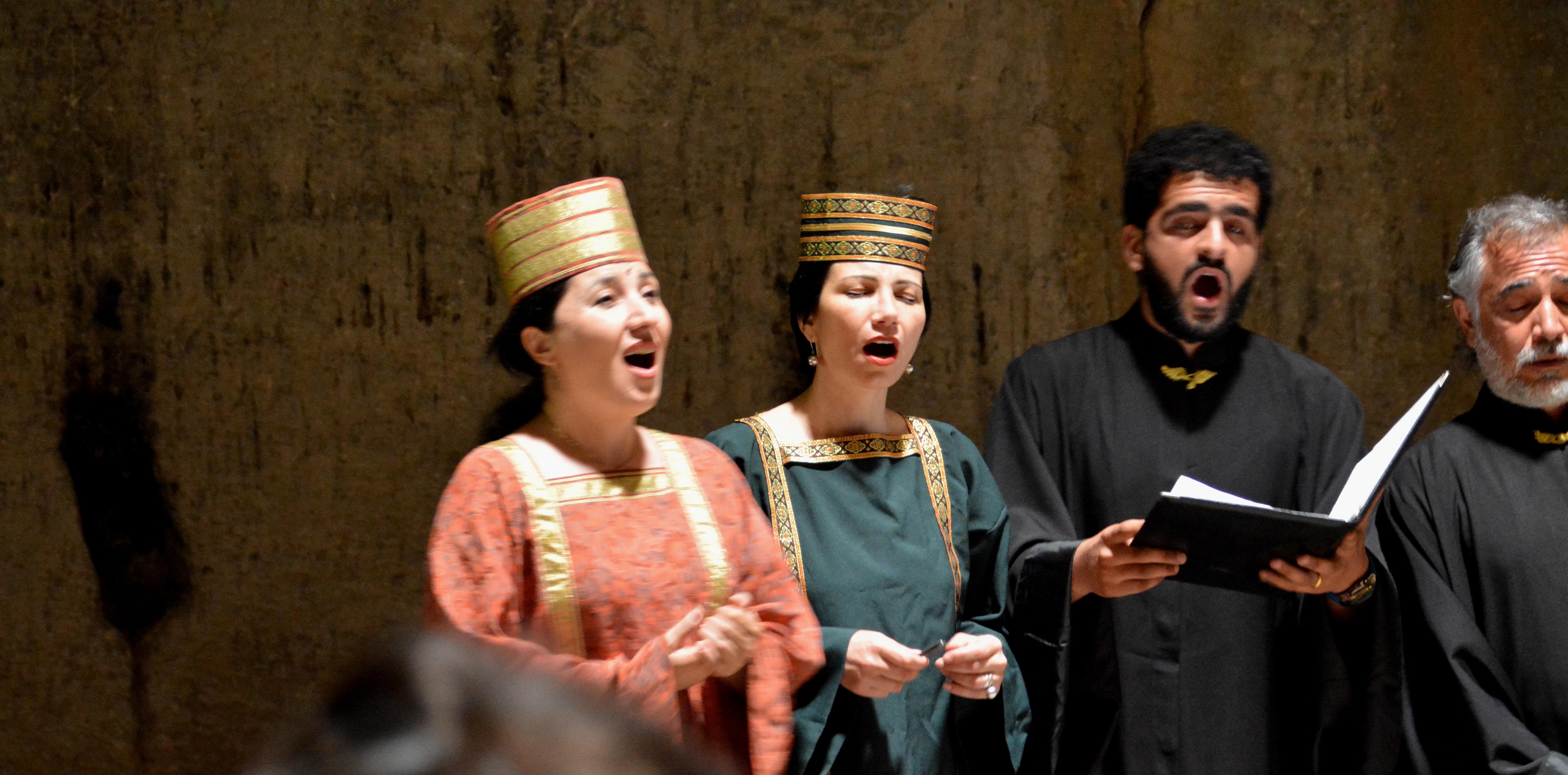 Nairi vocaal quartet, liederen van Komitas, Armenië  (foto B. Wouda)
