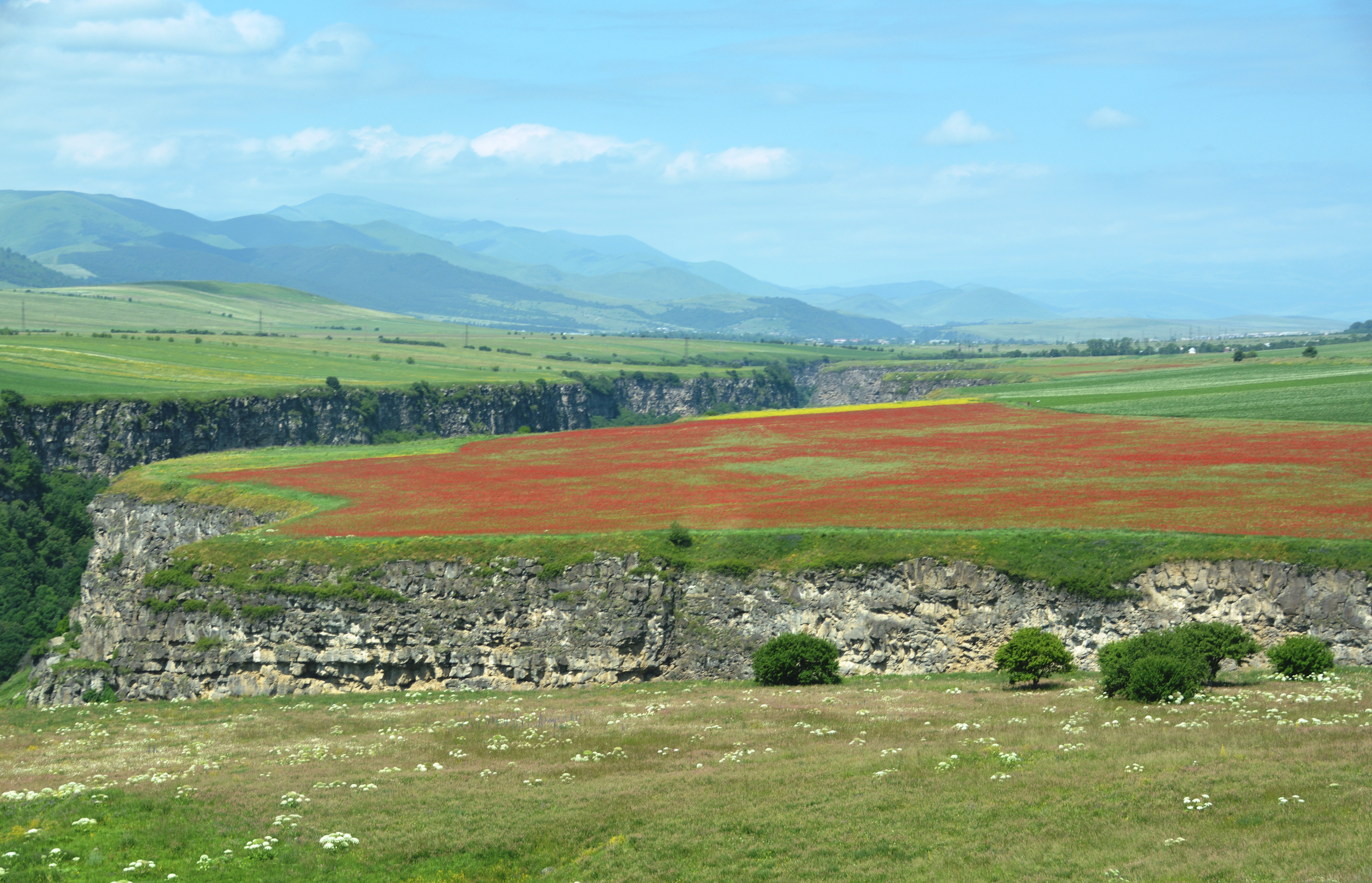 Hoogvlakte met Dzoragetcanyon  tussen Odzun en Stepanavan , Armenië (foto B. Wouda)
