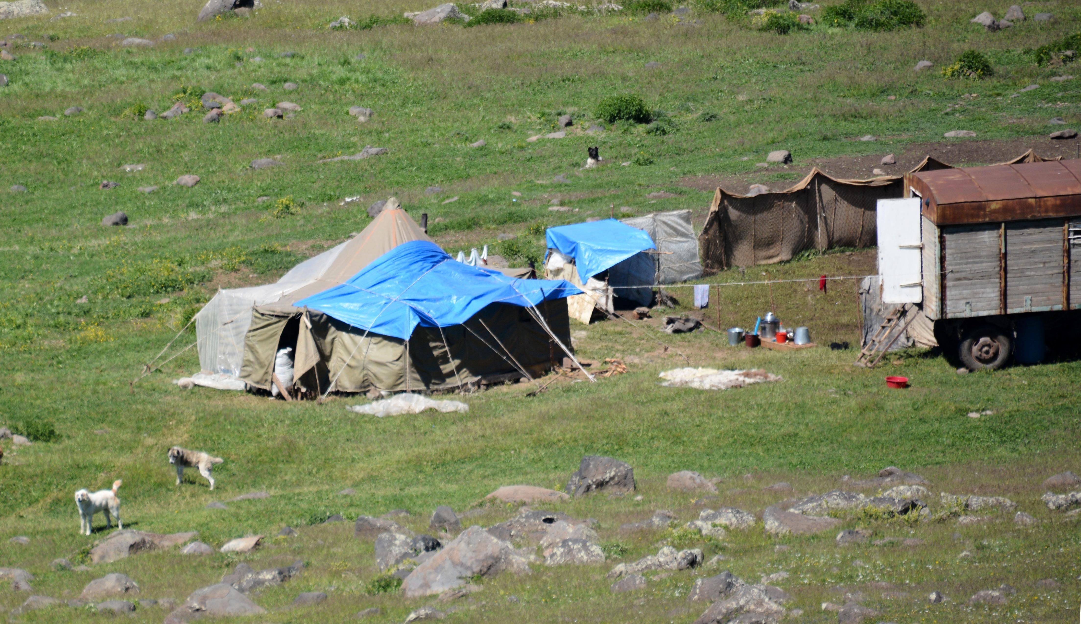 Yezidikamp op de Aragats, Armenië  (foto B. Wouda)
