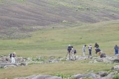 Petrogliefenveld op 3200 meter Armenië (foto C. Snik)